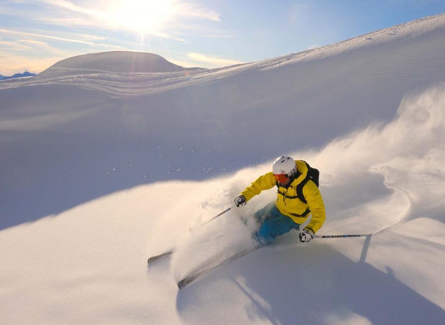 Zwei-Länder-Skisafari